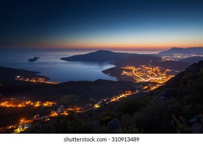 Night lights of Kalkan, Antalya, Turkey