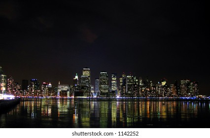 Night lights of Manhattan from New Jersey