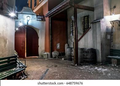 night Lviv, Lvov,  historical center, west Ukraine, east Europe travel