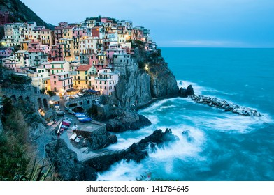 night manarola