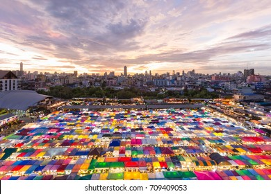 Night market in Bangkok Thailand
