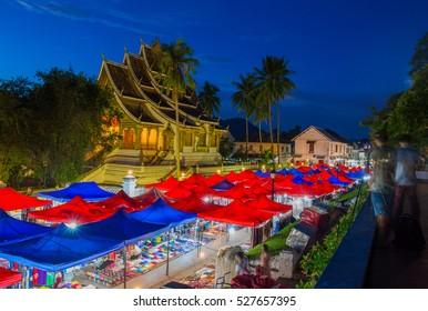Night market in Luang Prabang,Laos