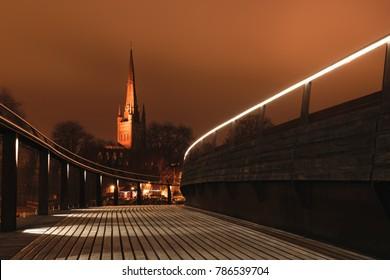 Night in Norwich, Norfolk