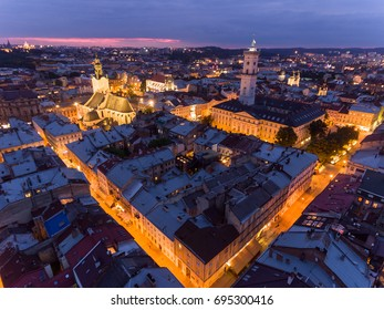 Night Old City Lviv, Ukraine