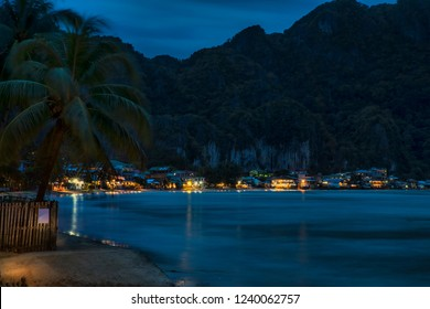 Night on the Beach of El Nido, Palawan, Philippines