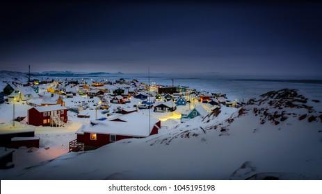 night over ilulissat