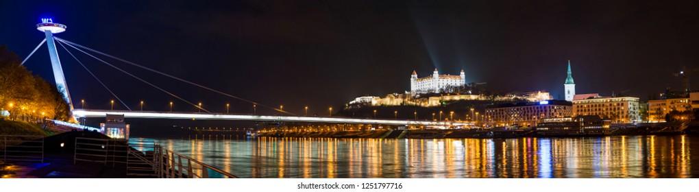 night panorama bratislava