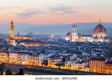 Night panorama of Florence. Italy