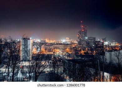 Night Panorama of Gdynia