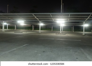 in the night at parking.