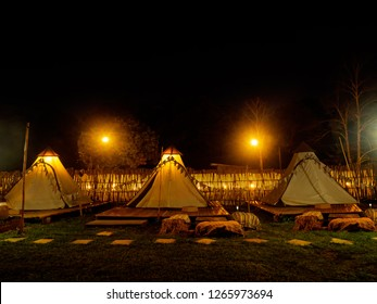Night party on Countryside Camping
