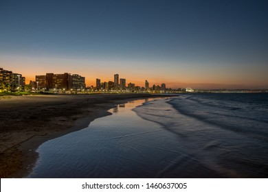 Night Photo of Durban, South Africa