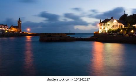 Night at Porthleven Cornwall England UK
