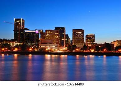 Night Portland. Oregon. The United States.