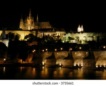 Night Prague. Old city. Czechia
