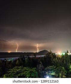 night rain in Con Lon island. Monday, September 17, 2018 7:43 PM
