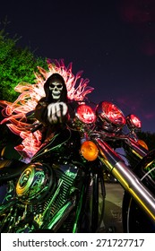 Night Rider - Skeleton Motorcycle - Light Painting