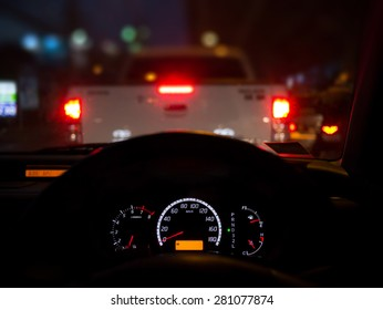 Night riding in street traffic