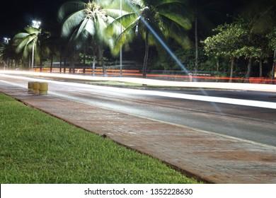 night road in cancun hotelier zone