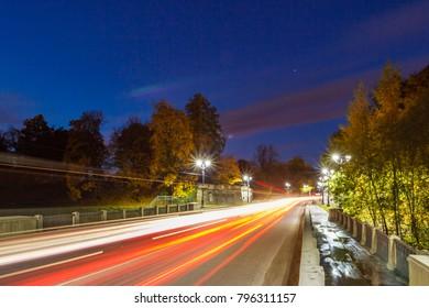 night road, city landscape