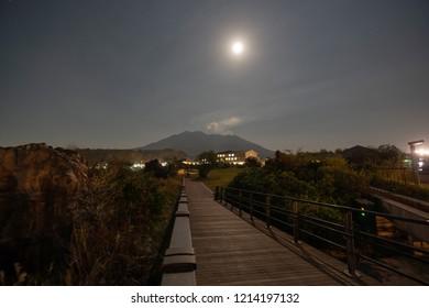 Night of Sakurajima, Kogoshima Japan
