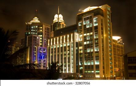 A night scene of Bangalore at night