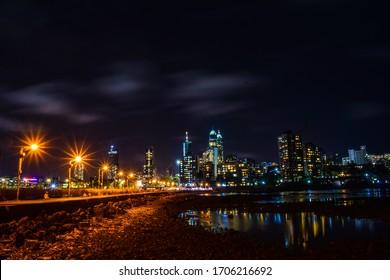 night scene of Mumbai