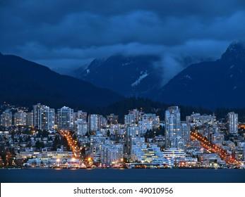 Night Scene of North Vancouver