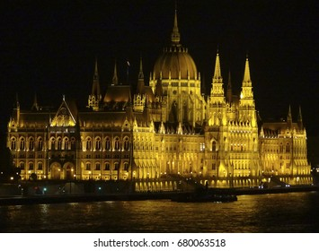 night scenery in Budapest, the capital city of Hungary