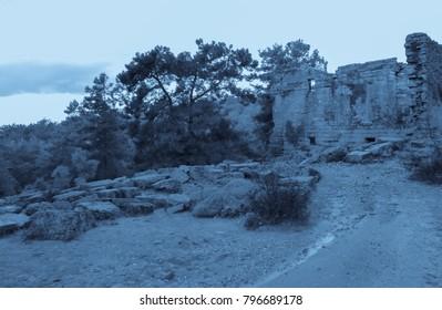Night in Seleukia Ancient City