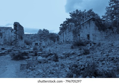 Night in Seleukia Ancient City