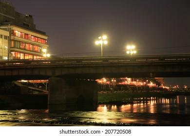 The Night Of Shijo Riverside