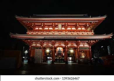 Night short of Senso-ji Temple or Asakusa Temple is the most famous temple and the oldest temple in Tokyo. Japan