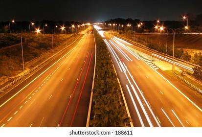 Night Shot of Highway