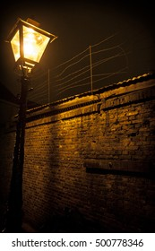 Night shot of a old fashion lantern