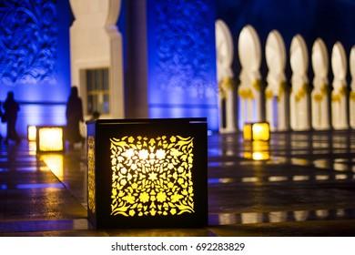 Night Shot taken at Grand Mosque AbuDhabi, United Arab Emirates