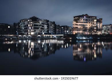 Night shots of city of Bristol at night