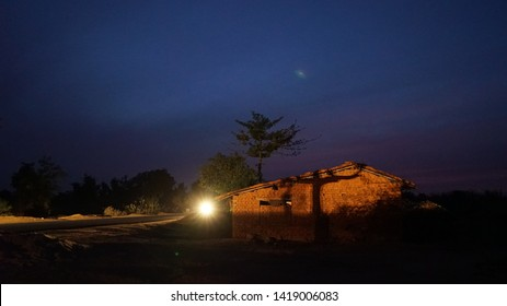 Night shots of rural area  village Mahjori district Dhanbad Jharkhand state india clicked on 12march 2017