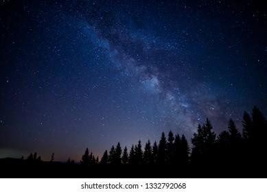 Night sky and the beautiful milky way