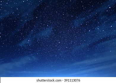 Night sky with clouds fullly with the star
