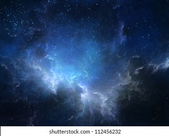 Night sky with clouds/nebula