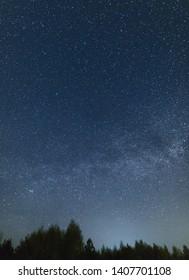 Night sky full of stars. Milky Way across the sky.