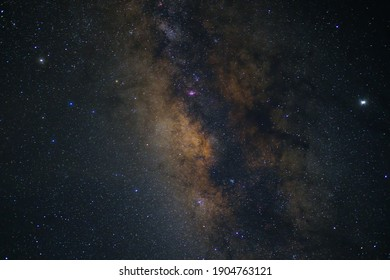 The night sky in galaxy have milky way with stars so beautiful.