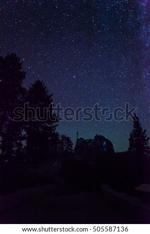 Night sky at Glacier Point, Yosemite National Park, CA