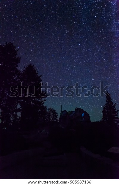 Night sky at Glacier Point, Yosemite National Park, CA