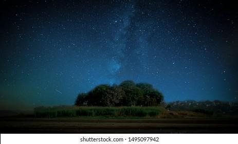 Night Sky landscape Nightscape milkyway