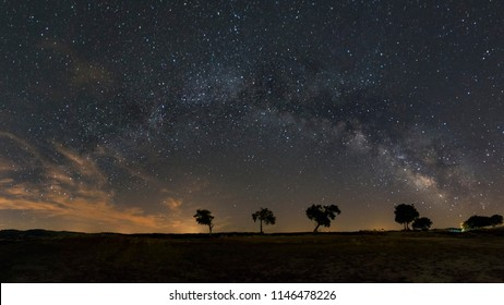 Night sky with milky way in Alentejo, Portugal