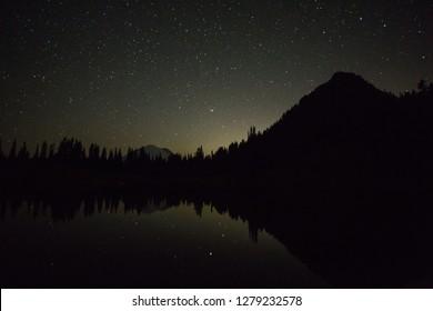 The Night Sky In Mt. Rainier National Park