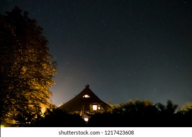 Night Sky over Fischland in Germany with Milky Way