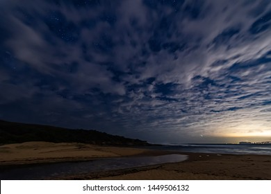 Night sky at Putty Beach on the Central Coast of NSW, Australia